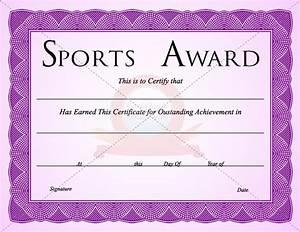 Sport Certificate Templates Sports Certificate Template Certificate Templates