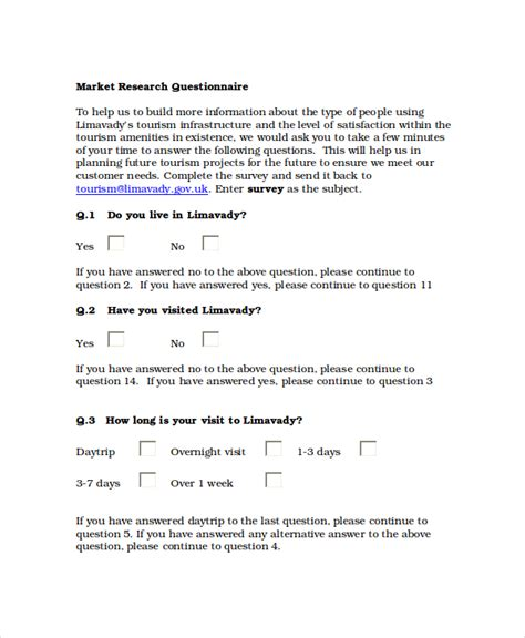 questionnaires templates word business mentor