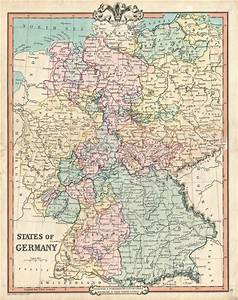 Germany Map In 1850
