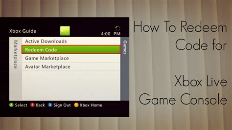 mm xbox live code how to redeem code for xbox live console