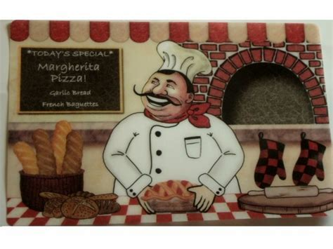 Happy Fat Italian Chef Placemats Set