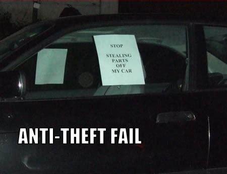 hilarious anti theft signs oddee