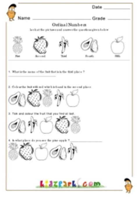 ordinal numbers worksheets learning numbers worksheet