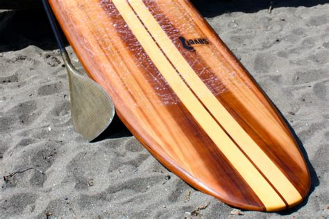 sliver paddle board plans hollow wood