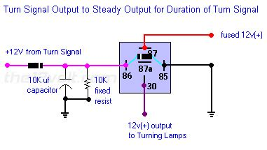 Wig Wag Flasher Relay Wiring Diagram by Pulsed To Steady Output Turn Signal Output To Steady