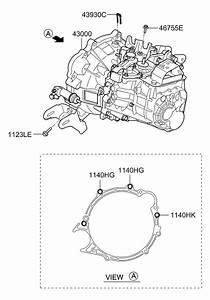 2014 Hyundai Elantra Gt Transaxle Assy