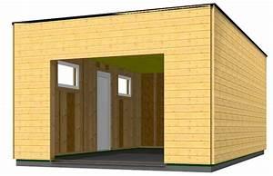 garage en bois toit plat mzaolcom With garage ossature bois toit plat