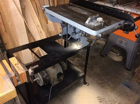 vintage delta milwaukee combo table   jointer