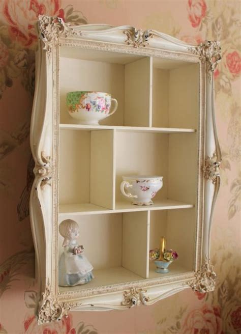 french vintage style ornate wall display shelf unit