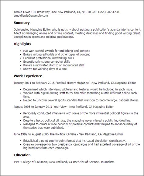 Resume Editor by Magazine Editor Resume Template Best Design Tips