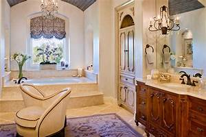 Austin, French, Country, Window, Treatments, Traditional, Bathroom, With, Kitchen, Island, And, Ceiling