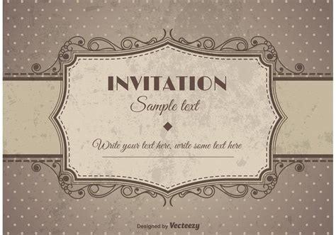 vintage retro invitation invitations wedding invitation