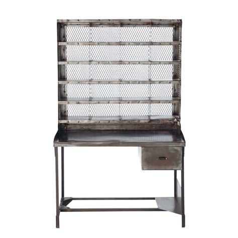 bureau 110 cm bureau secrétaire en métal effet vieilli l 110 cm