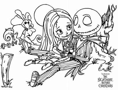 Coloring Pages True Nightmare Christmas Before Sally