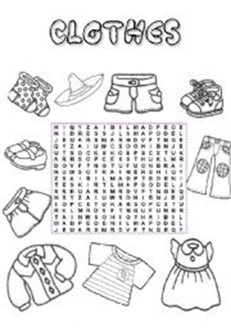 clothes wordsearch worksheet by mishuna