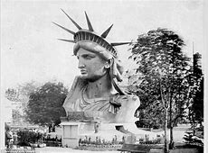 Vintage Photos Construction of the Statue of Liberty in