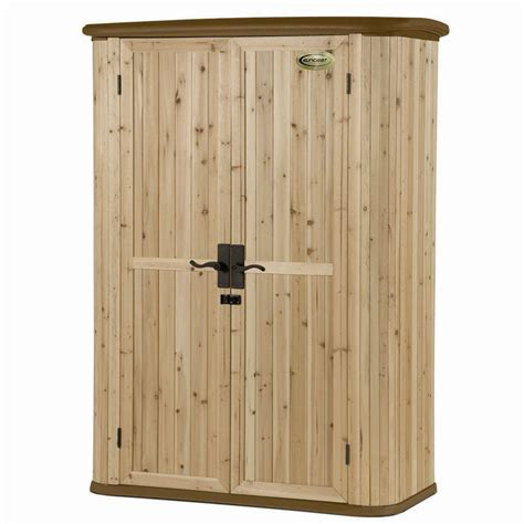 suncast cedar and resin vertical shed browns tans shop