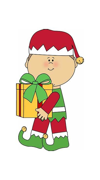 Elf Christmas Gift Clip Carrying Boy Graphics
