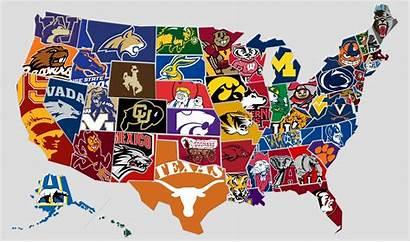 College Football Teams Sec National Map University