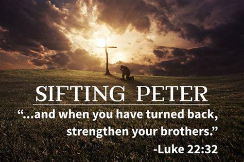 sifting peter grace  faith