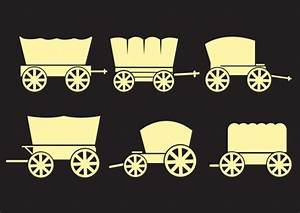 Western covered wagons Vector   Free Download