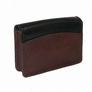 Leather business card holder organizer by buxton small for Leather business card organizer
