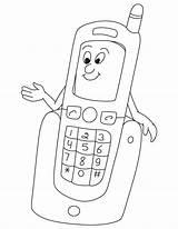 Coloring Phone Preschool Electronics Kindergarten Worksheets Toddler Leave Comment Preschoolactivities sketch template