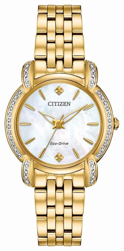 Jolie Citizen Gold Ladies Diamond Eco Drive