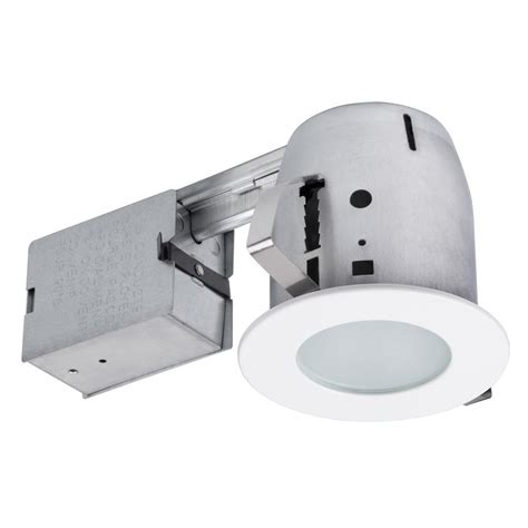 Shower Recessed Light - commercial electric 5 in white recessed shower kit
