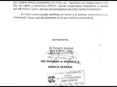 formato de certificado mdico recetas t