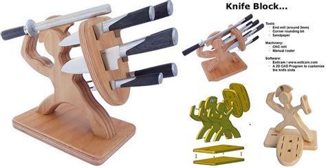 wooden knife block   Home Design, Garden & Architecture