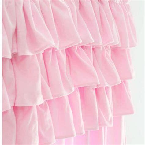Pink Ruffle Curtains 96 by White Ruffle Curtain