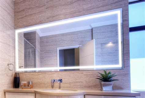 Verge Bathroom Lighted Mirror  Vanity, Led, By Clearlight