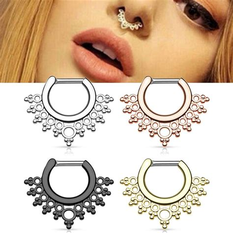 pc body jewelry rose gold black silver color realfake