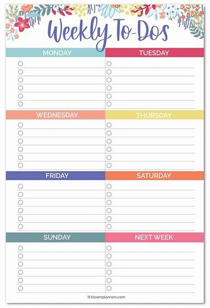 Weekly Dos Daily Planners Planner Magnet Pad