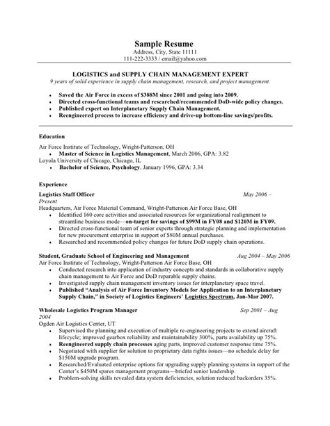 Army Logistician Resume by A Template For Resumes