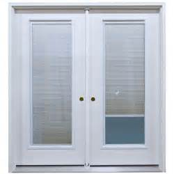 6 double swing patio door unit with mini blinds between
