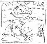 Coloring Beaver Pond Printable Beavers Dam Habitat Malvorlagen Animals Biber Building Ausdrucken Colouring Animal Dibujos Castores Drawing Tiere Ausmalbilder Ausmalbild sketch template