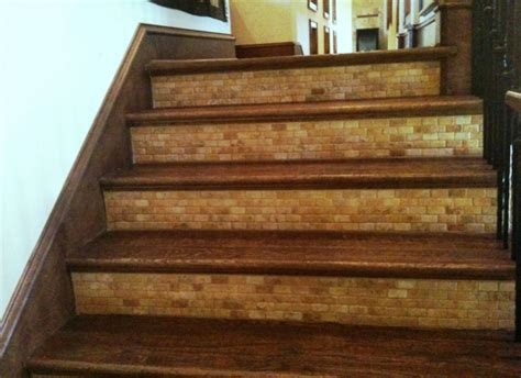 tile stair risers installation stairs design ideas