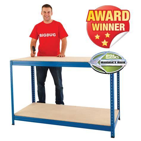 Heavy Duty Industrial Workbench Garage Workshop Table