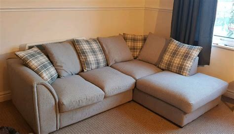 Corner Sofa Cushions by Grey Corner Sofa With Cushion Backs In Lincoln