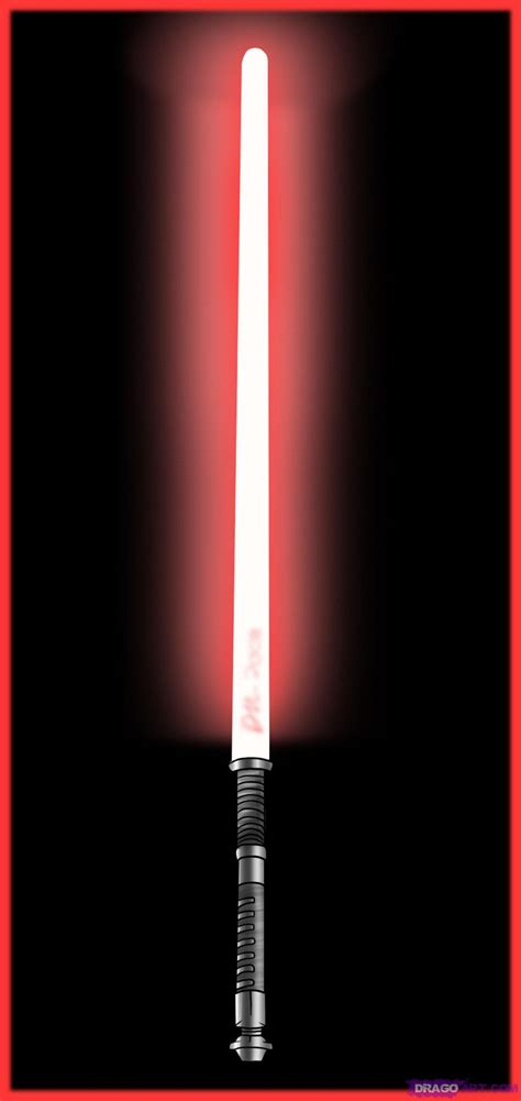 Lightsaber Lights by How To Draw A Lightsaber Step By Step Wars