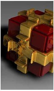 Cubes in golden wrap wallpaper - 3D wallpapers - #40556
