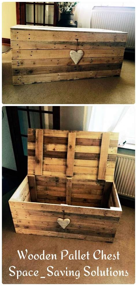 wooden pallet chest space saving solutions palletother wood projects pallet chest pallet