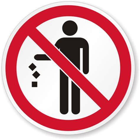 Do Not Litter Signs  Don't Be A Litterbug Signs
