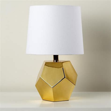 Between A Rock Lamp Base, Gold  Modern  Lamp Bases By