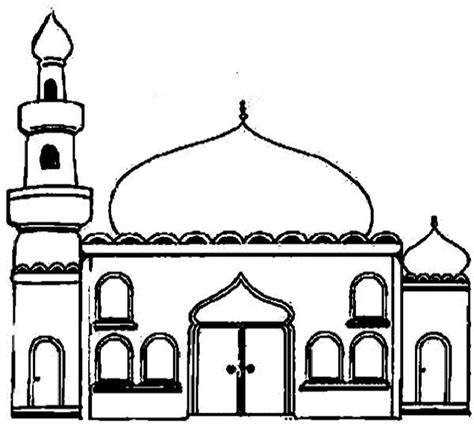 Moskee Kleurplaat by Mosque 6 Buildings And Architecture Printable