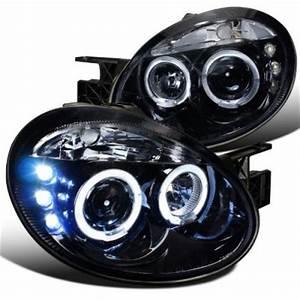 Dodge Neon 2003 2005 Smoked Halo Projector Headlights LED