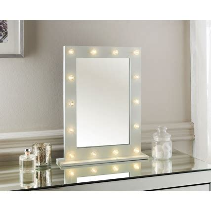 vanity table with lighted mirror uk modern 14 led bulb vanity mirror dressing table