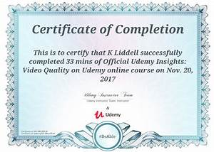 Certificate of pletion – Udemy